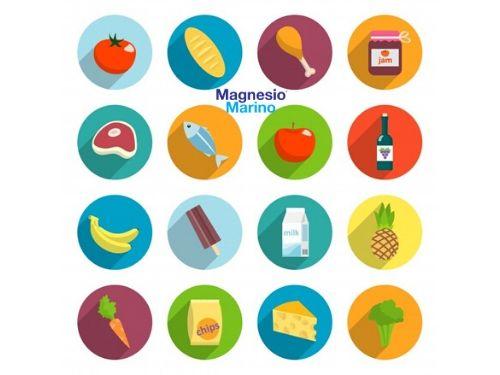 Immagini di vari alimenti da cui attingere magnesio