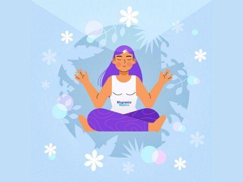 Ragazza medita per ritrovare benessere psicofisico