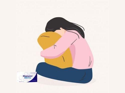 Ragazza affetta da depressione