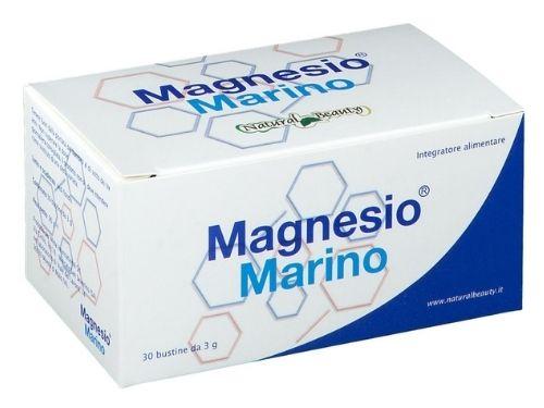 Confezione di Magnesio Marino da 30 bustine di 3g cadauna.